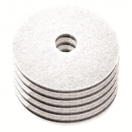 Disque de lustrage blanc diamètre 406mm - Carton de 5 - NUMATIC