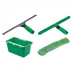 UNGER Kit de nettoyages des vitres ERGOTEC raclette mouilleur seau