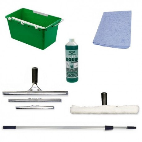 Kit nettoyage des vitres professionnel - 10 éléments