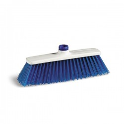 Balai poils PBT Bleu avec filetage - Norme H.A.C.C.P