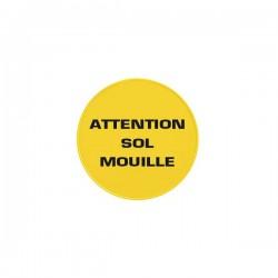 Panneau ATTENTION SOL MOUILLE