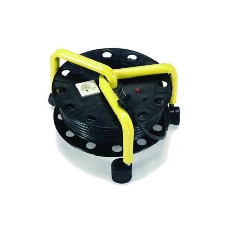 Enrouleur de câble 20m à roulettes (prise Europe) - NUMATIC